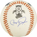 Autographs:Baseballs, Cal Ripken Jr. Single Signed Baseball. Baseball's Iron Man CalRipken, Jr. provides a sweet signature on a side panel of thi...