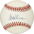 Autographs:Baseballs, Al Kaline Single Signed Baseball. Clean OAL (Brown) ball seen herehas been adorned on its sweet spot with a signature from...