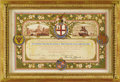 Royal Memorabilia:Russian, Original Invitation for a Reception to Honor Grand Duke AlexanderNikolaevich, Future Tsar Alexander II of Russia. Printed...