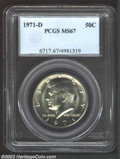Kennedy Half Dollars: , 1971-D 50C MS67 PCGS. ...