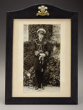 Royal Memorabilia, Original Photograph of Edward, Prince of Wales. Full lengthphotograph in uniform, signed by Edward and dated 1921, in lea...