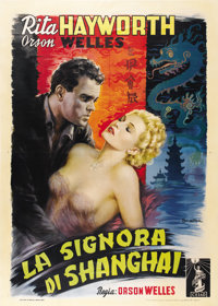 "The Lady From Shanghai (Columbia, 1947). Italian 4 - Folio (55"" X 78"")"