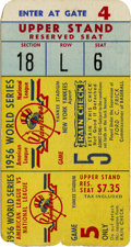 Baseball Collectibles:Tickets, 1956 World Series Game 5 Ticket Stub from Don Larsen's PerfectGame. Don Larsen took the mound on October 8, 1956, later to...