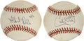 Autographs:Baseballs, Albert Belle and Cecil Fielder Single Signed Baseballs Lot of 2.The contemporary duo of Albert Belle and Cecil Fielder bli...