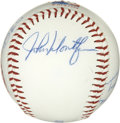 Autographs:Baseballs, New York Yankees Legends Multi-Signed Baseball. Eight integral menwhose past includes service to the storied New York Yank...