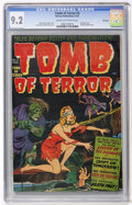 Golden Age (1938-1955):Horror, Tomb of Terror #3 File Copy (Harvey, 1952) CGC NM- 9.2 Cream tooff-white pages....