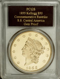 """SSCA Relic Gold Medal """"1855"""" Kellogg & Co. Fifty Dollar Gem Proof PCGS....(PCGS# 10228)"""