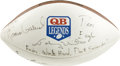 Football Collectibles:Balls, Quarterback Legends Multi-Signed Football. A trio of the finest signal callers that the NFL has known have each deposited a...