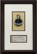 Autographs:U.S. Presidents, Andrew Jackson: Rare Check, Signed as President, to His Nephew andNamesake Andrew Jackson Donelson....
