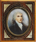 Political:3D & Other Display (pre-1896), James Madison: Superb Signed Miniature on Ivory....