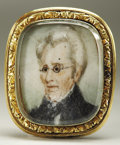 Political:Small Miscellaneous (pre-1896), Andrew Jackson: Utterly Exquisite Miniature Hand Painted Portrait Brooch....