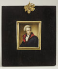 Political:Miscellaneous Political, Andrew Jackson: Superb Miniature Portrait on Ivory Attributed to James Longacre. ...