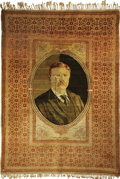 Political:Textile Display (1896-present), Theodore Roosevelt: Magnificent, Unique, Signed, Hand-Knotted Persian Rug, Dated with the Election Year of 1904....