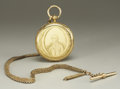 Political:Miscellaneous Political, George Washington: Beautiful Solid 18K Gold Pocket Watch withVermeil Victorian Watch Chain....