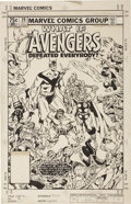 """Original Comic Art:Covers, Michael Golden - What If #29, """"...The Avengers Defeated Everybody"""" Cover Original Art (Marvel, 1981)...."""