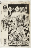 Original Comic Art:Covers, Joe Staton and Terry Beatty - Guy Gardner #13 Cover Original Art(DC, 1993)....
