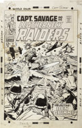 Original Comic Art:Covers, Dick Ayers and Syd Shores - Captain Savage and His Leatherneck Raiders #7 Cover Original Art (Marvel, 1968)....