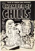 "Original Comic Art:Covers, Al Avison - Chamber of Chills #22 (#2), ""Shudder Pulp"" BondageCover Original Art (Harvey, 1951)...."