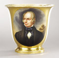 Political:3D & Other Display (pre-1896), Henry Clay: Magnificent Paris Porcelain Cup with Hand Painted Portrait....