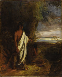 ROBERT WALTER WEIR (American 1803-1889) Last of the Mohicans Oil on canvas 49-1/2 x 40 inches (125.7 x 101.6 cm)