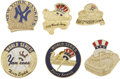Baseball Collectibles:Others, 1996-2003 World Series Press Pins Lot of 6 (New York Yankees). Themost recent great Yankee dynasty is represented in shimm...