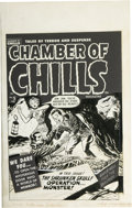 Original Comic Art:Covers, Lee Elias - Chamber of Chills #5 Cover Original Art (Harvey, 1952)....