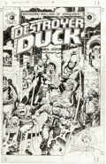 Original Comic Art:Covers, Jack Kirby and Alfredo Alcala - Destroyer Duck #4 Cover OriginalArt (Eclipse, 1983)....