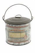 "Advertising:Tins, H. J. Heinz Label Tin Bucket with a beautiful front and back label. This metal tin bucket standing 3.5"" tall with a diameter..."