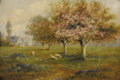 Fine Art - Painting, American:Modern  (1900 1949)  , T. HUDSON SMITH (American Twentieth Century). The Orchard.Oil on canvas. 11-/1/2 x 7-1/2 inches (29.2 x 44.5 cm). Sig...