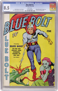 Blue Bolt #1 (Novelty Press, 1940) CGC VF+ 8.5 White pages