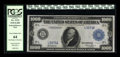Fr. 1133 $1000 1918 Federal Reserve Note PCGS Very Choice New 64. A broadly margined, strikingly handsome $1000 Fed from...