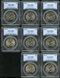 Kennedy Half Dollars: , (8) 2005-P 50C Satin Finish MS68 PCGS.... (Total: 8 Coins)