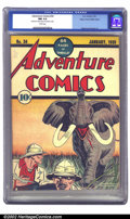Golden Age (1938-1955):Adventure, Adventure Comics #34 Mile High pedigree (DC, 1938) CGC NM 9.4 White pages. Another great Flessel cover, displaying the more ...