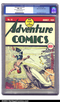 Adventure Comics #41 Mile High pedigree (DC, 1939) CGC NM+ 9.6 Off-white to white pages. This second Sandman issue featu...