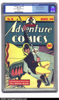 Golden Age (1938-1955):Superhero, Adventure Comics #48 Mile High pedigree (DC, 1940) CGC VF+ 8.5 White pages. This major key issue of Adventure features t...
