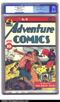 Golden Age (1938-1955):Superhero, Adventure Comics #49 Larson pedigree (DC, 1940) CGC NM- 9.2 Off-white to white pages. This issue showcases the last of the n...