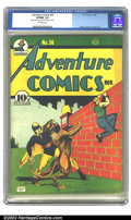 Golden Age (1938-1955):Superhero, Adventure Comics #56 (DC, 1940) CGC VF/NM 9.0 Off-white pages. Hourman saves a young boy from becoming panther chow on this ...