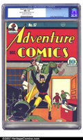 Golden Age (1938-1955):Superhero, Adventure Comics #57 (DC, 1940) CGC NM- 9.2 Off-white to white pages. Baily continues his run of Hourman covers with this is...