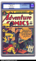 Golden Age (1938-1955):Superhero, Adventure Comics #76 Mile High pedigree (DC, 1942) CGC NM+ 9.6 Off-white to white pages. Sandman crashes a thieves' party Ba...