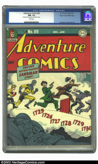 Adventure Comics #89 Mile High pedigree (DC, 1944) CGC NM- 9.2 White pages. To truly appreciate the quality of Mile High...