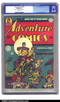 Golden Age (1938-1955):Superhero, Adventure Comics #93 (DC, 1944) CGC VF/NM 9.0 Off-white pages. Here's a fantastic S&K cover that resembles Kirby's later wor...