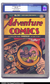 Adventure Comics #94 (DC, 1944) CGC VF+ 8.5 Off-white to white pages. This copy structurally appears NM, but exhibits li...