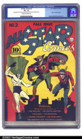 Golden Age (1938-1955):Superhero, All Star Comics #2 (DC, 1940) CGC VF- 7.5 Cream to off-white pages. This cover features a collage of reprinted images from D...