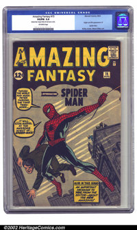 Amazing Fantasy #15 (Marvel, 1962) CGC VG/FN 5.0 Off-white pages. There are very few people out there who won't recogniz...