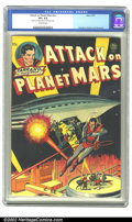 Golden Age (1938-1955):Science Fiction, Attack on Planet Mars #nn (Avon, 1951) CGC VF+ 8.5 Off-white pages.This Avon one-shot is an adaptation of Tarrano the Conqu...