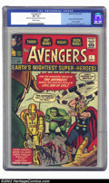 Silver Age (1956-1969):Superhero, The Avengers #1 (Marvel, 1963) CGC VF- 7.5 Off-white pages. One ofMarvel's classic key issues of 1963, introducing Marvel's...