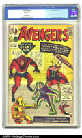 Silver Age (1956-1969):Superhero, The Avengers #2 (Marvel, 1963) CGC FN+ 6.5 Off-white pages. Thissecond issue has the Avengers teaming up against the Space ...