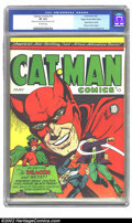 Golden Age (1938-1955):Superhero, Catman Comics #10 Mile High pedigree (Holyoke Publications, 1942) CGC VF 8.0 Off-white pages. Presented here is a gorgeous M...