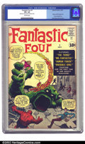 Silver Age (1956-1969):Superhero, Fantastic Four #1 (Marvel, 1961) CGC VF+ 8.5 Off-white pages. Afterthe Atlas implosion of 1957, it was uncertain whether Ma...