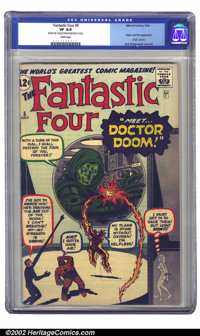 Fantastic Four #5 (Marvel, 1962) CGC VF 8.0 White pages. If you've been trying to put together a high-grade run of Fanta...